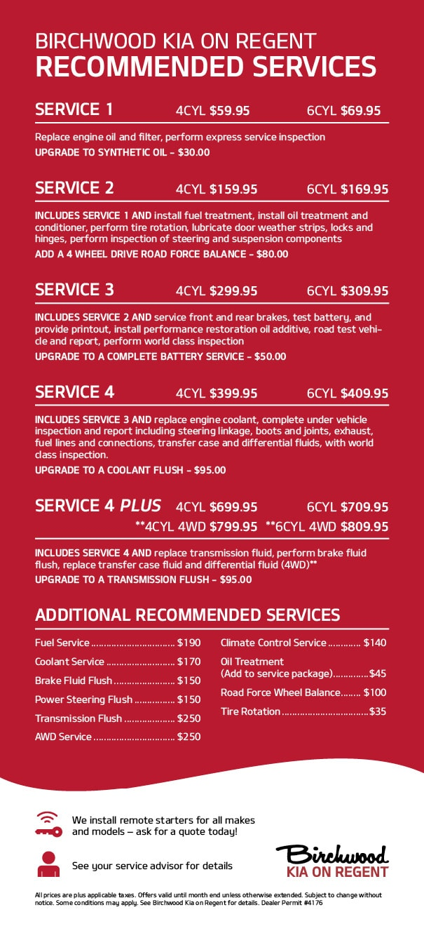 Kia Recommended service